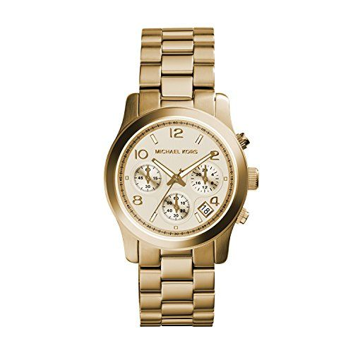 Michael Kors Midsized Chronograph Gold Tone Womens Watch MK5055 ** For more info...