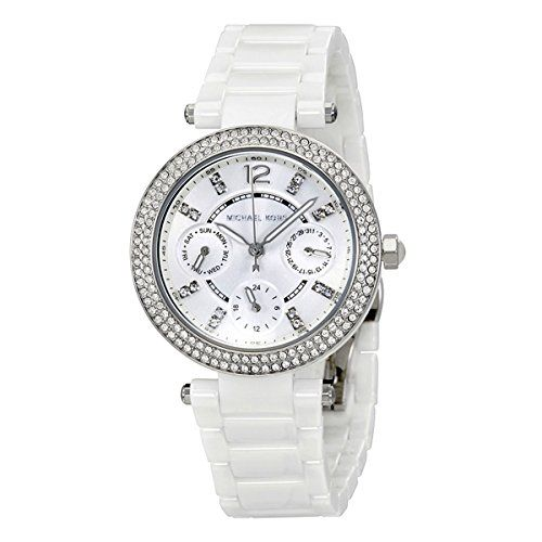Michael Kors Mini Parker White Dial Ladies Multifunction Watch MK6435 -- Want to...