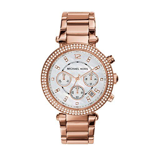 Michael Kors Parker Rose Gold Watch MK5491 * More info could be found at the ima...