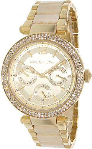 Michael Kors Parkers MultiFunction Gold Dial Watch MK5956 *** You can get more d...