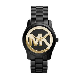 Michael Kors Runway Black Ip ThreeHand Womens Watch -- Continue to the product a...