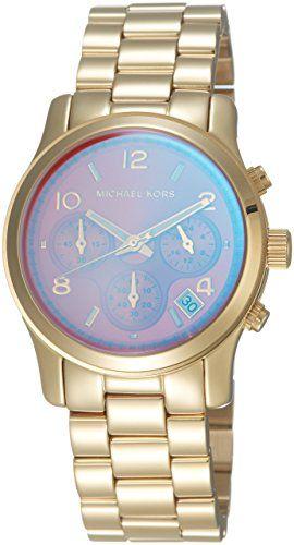 Michael Kors Runway Pink Dial SS Chronograph Quartz Ladies Watch MK5939 *** Clic...