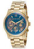 Michael Kors Runway Rose Gold-Tone Stainless Steel Chronograph Women's watch