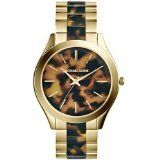 Michael Kors Watches Slim Runway Womens Watch Gold and Horn *** Find out more ab...
