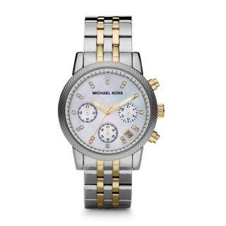 Michael Kors Watches Two-Tone Chronograph with Stones ** To view further for thi...