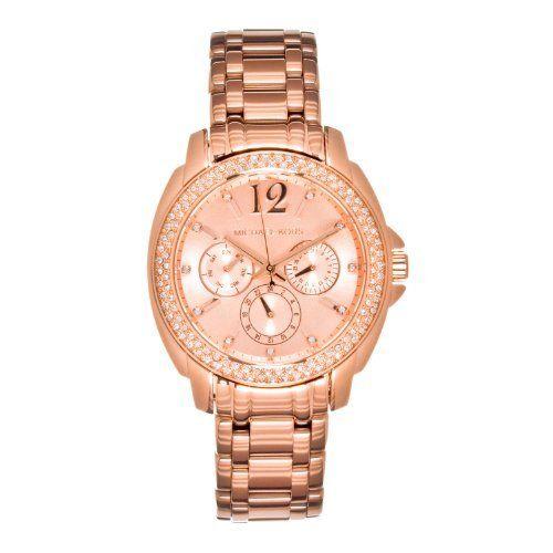 Michael Kors Women's 'Cameron' Round Rose Gold Bracelet Watch - MK56...