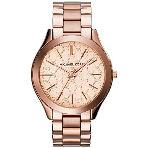 Michael Kors Women's 'Runway' Quartz Stainless Steel Watch, Color:Ro...
