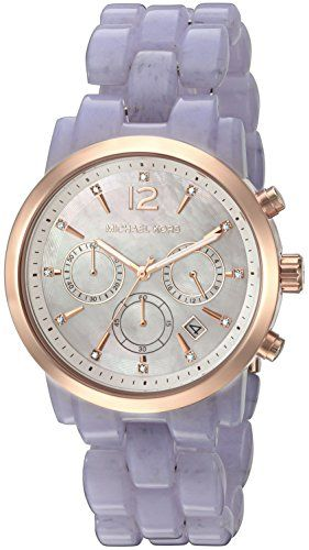 Michael Kors Women's Audrina Acetate and Rose Gold-Tone Watch MK6312 *** You...