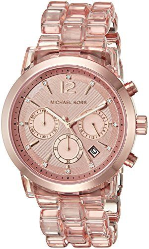 Michael Kors Women's Audrina Rose Gold-Tone Watch MK6203 ** Want to know mor...