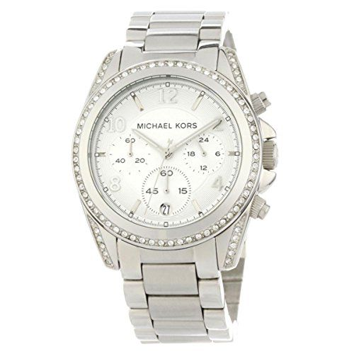 Michael Kors Women's Blair Silver-Tone Watch MK5165 * Learn more by visiting...