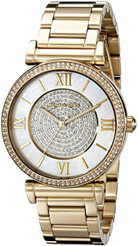 Michael Kors Women's Catlin Gold-Tone Watch MK3332 ** You can find out more ...