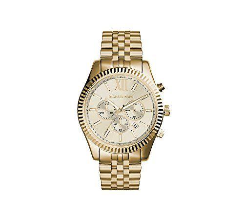 Michael Kors Women's Chronograph Lexington Goldtone Stainless Steel Bracelet...