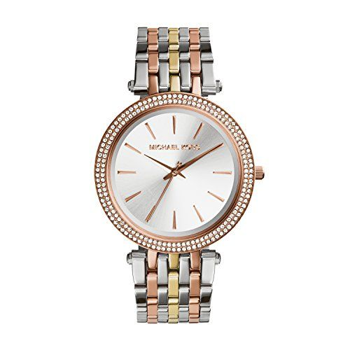 Michael Kors Women's Darci Tri-Tone Watch MK3203 -- Click on the image for a...