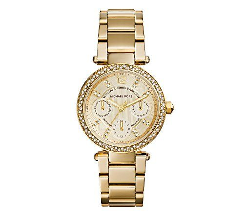 Michael Kors Women's Goldtone Plated Stainless Steel Mini Parker Watch *** R...