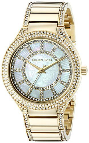 Michael Kors Women's Kerry Gold-Tone Watch MK3312 ** Continue to the product...