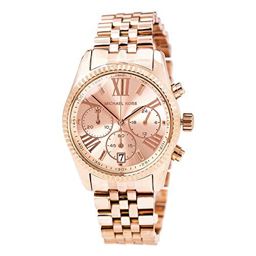 Michael Kors Women's Lexington Watch, Rose Gold, One Size * Details can be f...