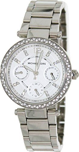 Michael Kors Women's MK5615 Parker Silver Watch -- Be sure to check out this...