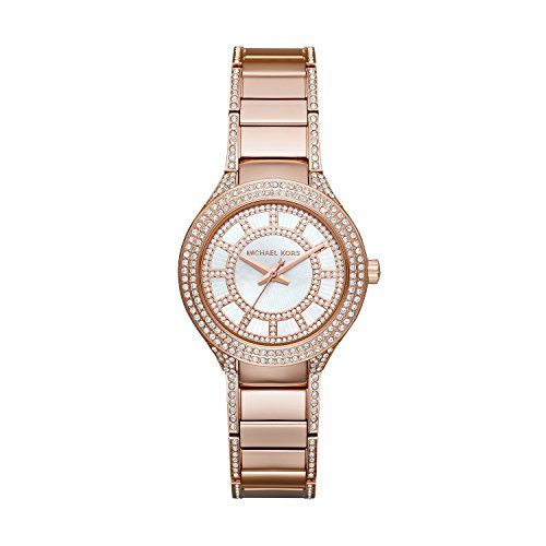 Michael Kors Women's Mini Kerry Rose Gold-Tone Watch MK3443 * Details can be...