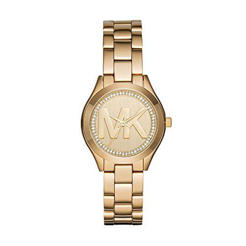 Michael Kors Womens Mini Slim Runway Gold Watch MK3477 *** Visit the image link ...