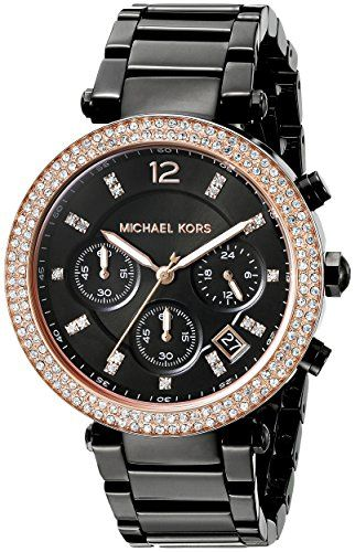 Michael Kors Women's Parker Black Watch MK5885 ** See this great product.