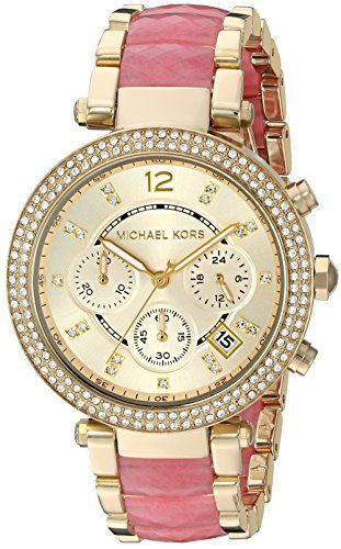 Michael Kors Women's Parker Gold-Tone Watch MK6363 * You can get more detail...
