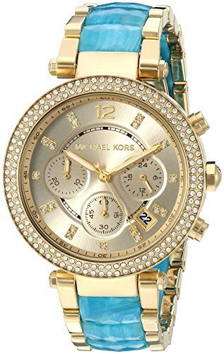 Michael Kors Women's Parker Gold-Tone Watch MK6364 -- Read more at the image...