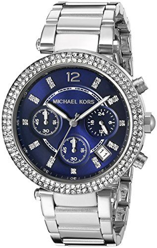 Michael Kors Women's Parker Silver-Tone Watch MK6117 * You can get additiona...