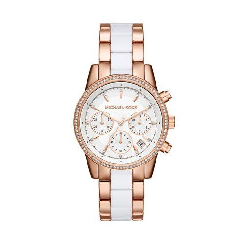 Michael Kors Women's Ritz Rose Gold-Tone Watch MK6324 -- Check this awesome ...