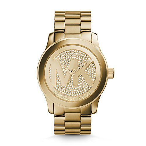 Michael Kors Women's Runway Gold-Tone Watch MK5706 * Click image to review m...