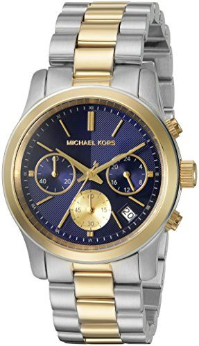 Michael Kors Women's Runway Watch - Two tone Silver -- Find out more about t...