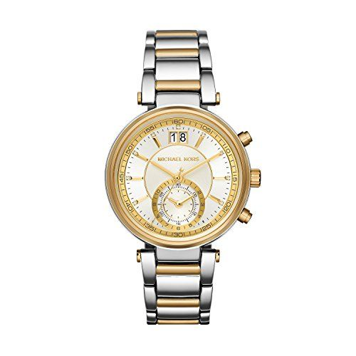 Michael Kors Women's Sawyer Two-Tone Watch MK6225 * Check out the image by v...