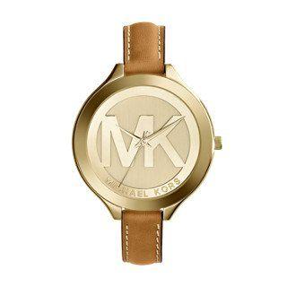 Michael Kors Women's Slim Runway Brown Watch MK2326 ** You can get more deta...