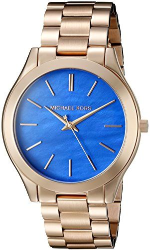 Michael Kors Women's Slim Runway Rose Gold Watch MK3494 -- Check out this gr...