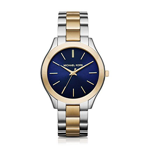 Michael Kors Women's Slim Runway Two-Tone Watch MK3479 * Want to know more, ...