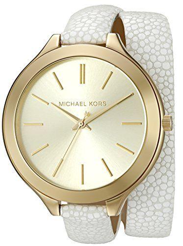 Michael Kors Women's Slim Runway White Watch MK2477 *** For more information, vi...