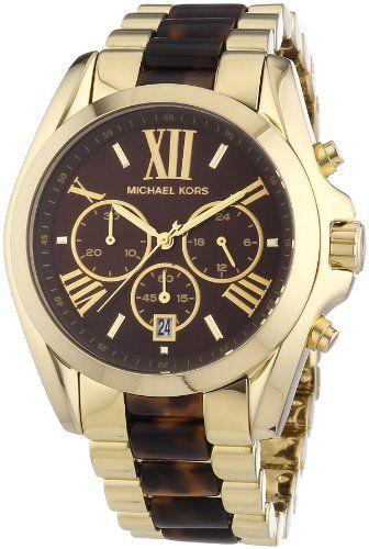 Michael Kors Women's Bradshaw Gold Bracelet Brown Dial Watch MK5696 * You ca...
