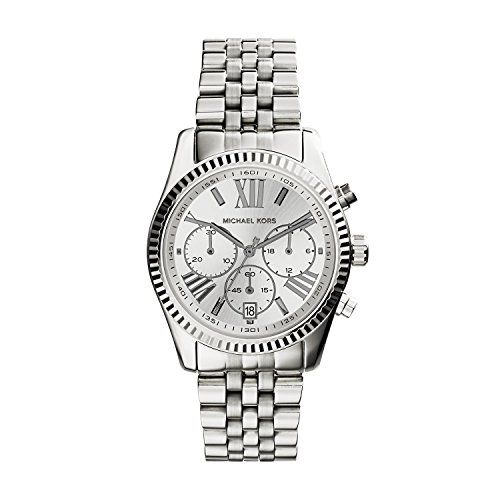 Michael Kors Women's Lexington Watch, Silver, One Size *** Check this awesome pr...