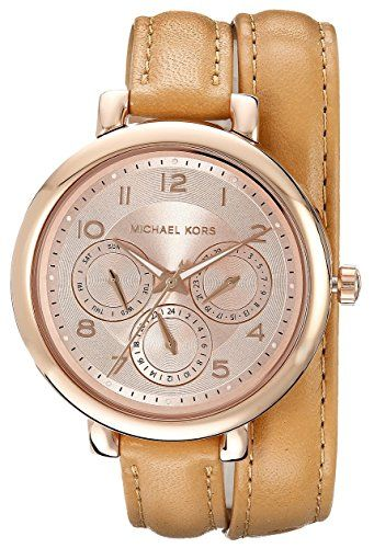 Michael Kors Women's MK2406 - Kohen Rose Gold/Brown Watch *** Check out this gre...