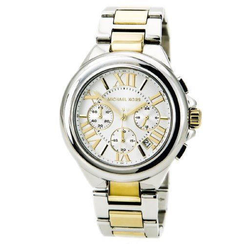 Michael Kors Womens MK5653 Camille Silver and GoldTone Stainless Steel Watch -- ...