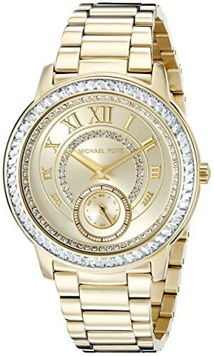 Michael Kors Womens Madelyn GoldTone Watch MK6287 -- Continue to the product at ...