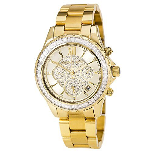 Michael Kors Women's Madison MK5810 Gold Stainless-Steel Quartz Watch * Chec...