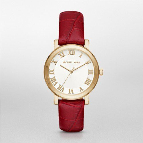 Michael Kors Womens Norie Red Watch MK2618 ** Click on the image for additional ...
