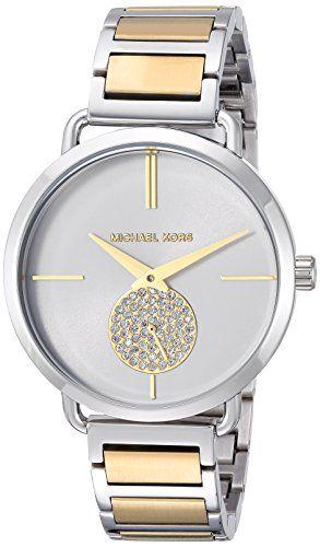 Michael Kors Womens Quartz Stainless Steel Casual Watch ColorSilverToned Model M...