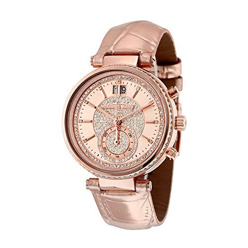 Michael Kors Womens Sawyer Rose GoldTone Watch MK2445 -- You can get more detail...
