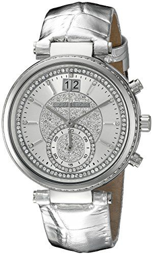 Michael Kors Womens Sawyer SilverTone Watch MK2443 * Read more at the image link...
