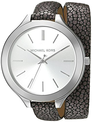 Michael Kors Women's Slim Runway Grey Watch MK2475 -- Be sure to check out t...
