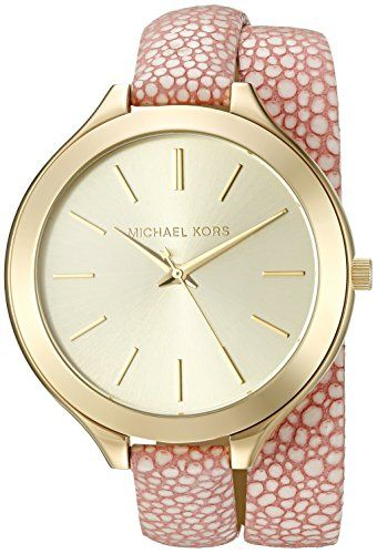 Michael Kors Womens Slim Runway Pink Watch MK2476 -- Learn more by visiting the ...