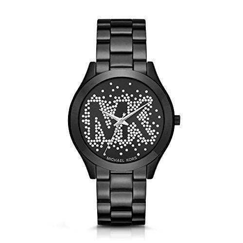 Micheal Kors Women's Slim Runway Logo Black Watch MK3589 -- You can find mor...
