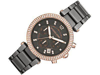 New MICHAEL KORS MK5539 Women's Gunmetal Swarovski Crystal Watch * Check out...