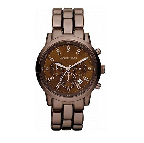 Womens Brown Tone Stainless Steel Quartz Chronograph Date Display Brown Dial -- ...